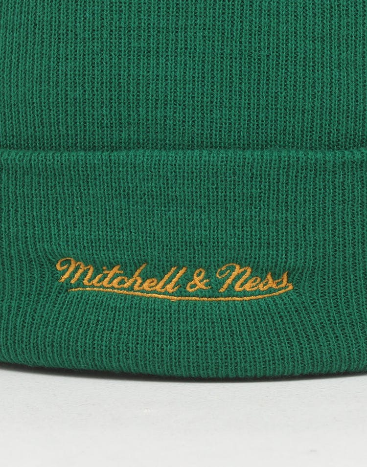 Mitchell & Ness Seattle Supersonics HWC logo Knit Beanie Green