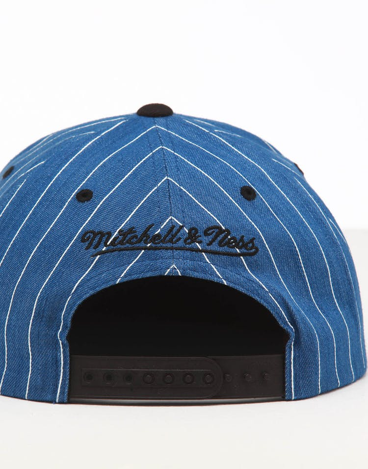 Mitchell & Ness Orlando Magic Low Crown Retro Snapback Denim Pinstripe