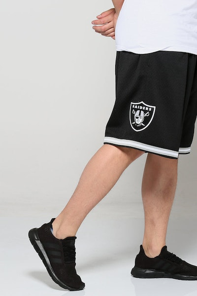 Mitchell & Ness Raiders Mesh Shorts Black/Grey