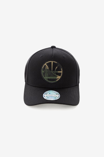 Mitchell & Ness Golden State Warriors 110 Pinch Panel Snapback Black/Camo
