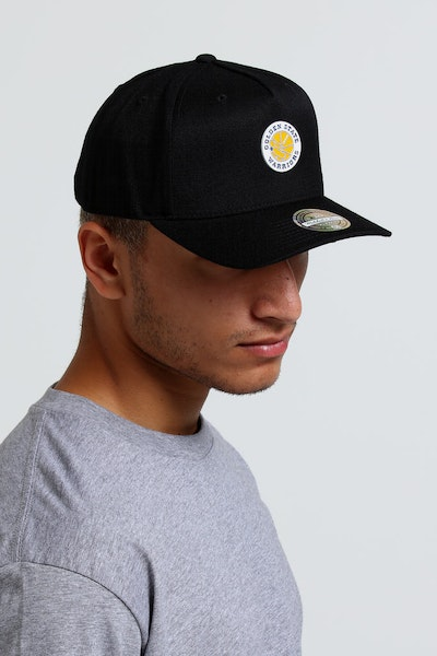 Mitchell & Ness Golden State Warriors Metal Pinch 110 Snapback Black