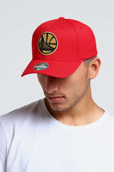 Mitchell & Ness Golden State Warriors 110 Snapback Red/Gold