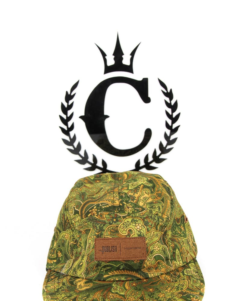 Marny 5 Panel Camp Cap Olive/brown