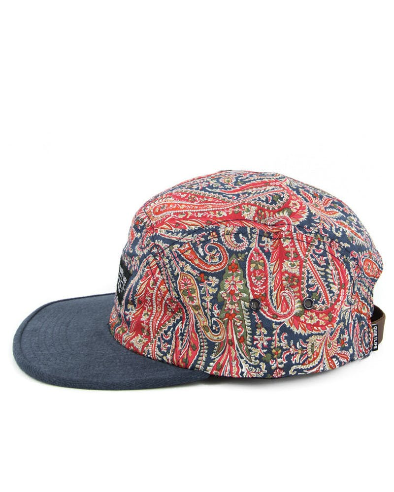 Paisley Half Moon 5 Panel Red/blue