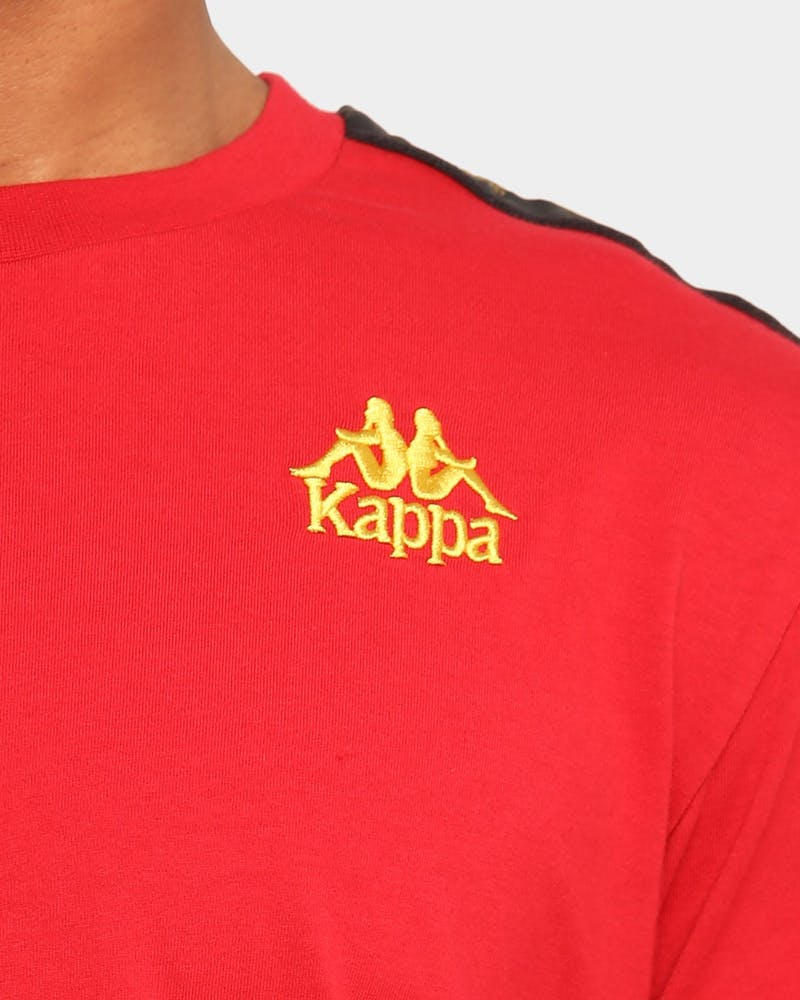 Kappa Kappa X Culture Kings Authentic Kim T-Shirt Red/Gold