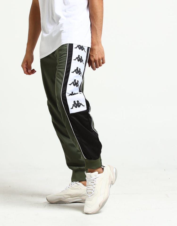 863dbf9244 Kappa 222 Banda 10 Alen Track Pant Green/Black/White