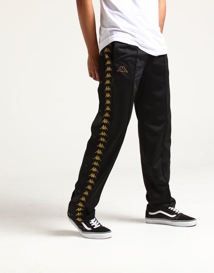 6cd13ff9af Kappa 222 Banda Astoria Snaps Pants Black/Gold