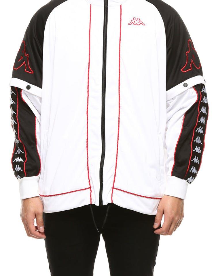 08262c07 Kappa 222 Banda Hunt Jacket White/Black/Red