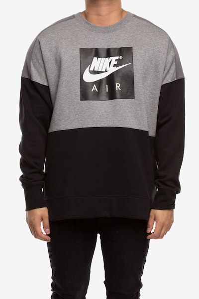 Nike Men's Sportswear Crew Grey Heather/Black