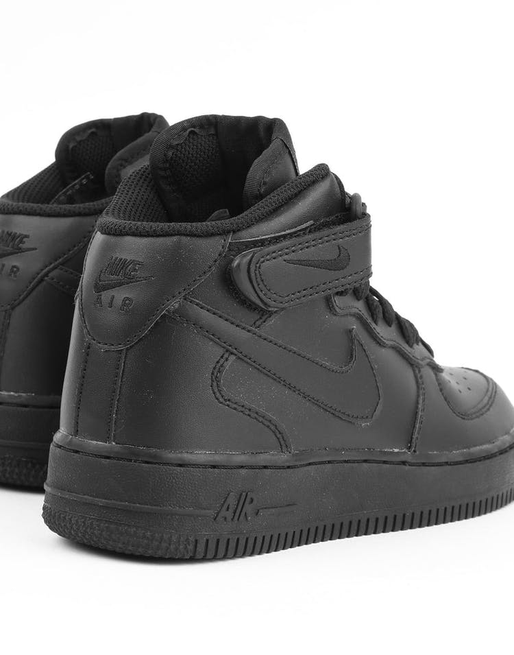 finest selection 451cb 9723a Nike Boys Air Force 1 Mid (GS) Bball Black/Black