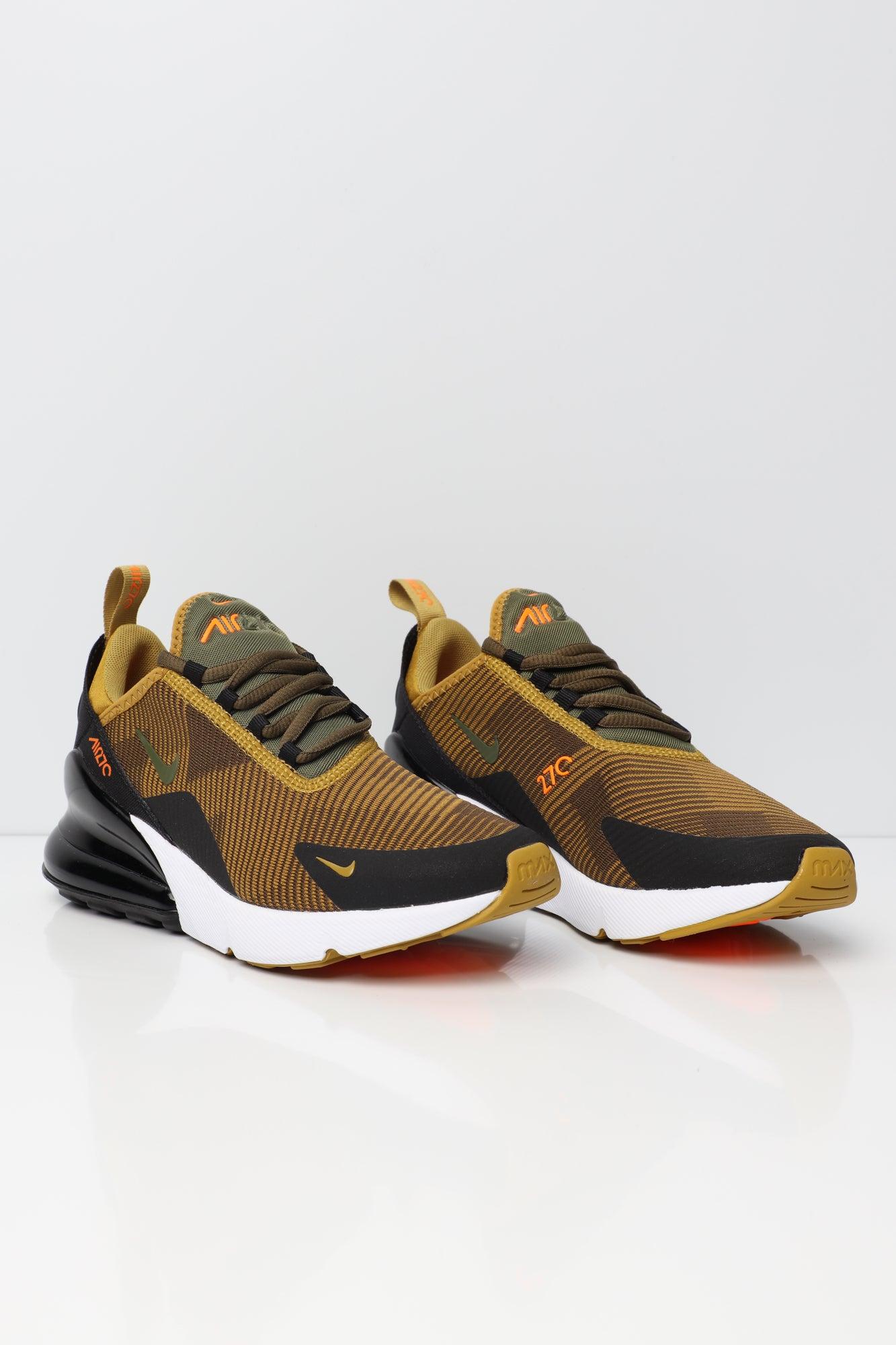 Nike Air Max 270 Jacquard Older Kids' Shoe MustardBlackWhite | AR0301 300