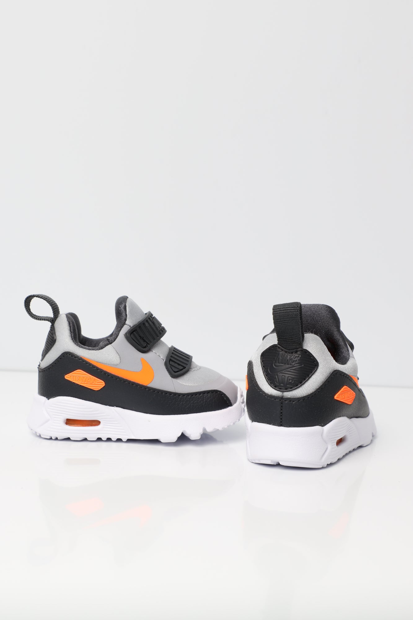 Nike Air Max Tiny 90 Toddler Shoe GreyOrangeWhite