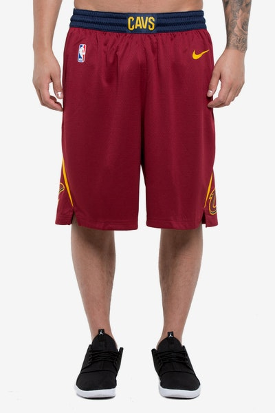 Cleveland Cavaliers Nike Icon Edition Swingman Shorts Red/Gold