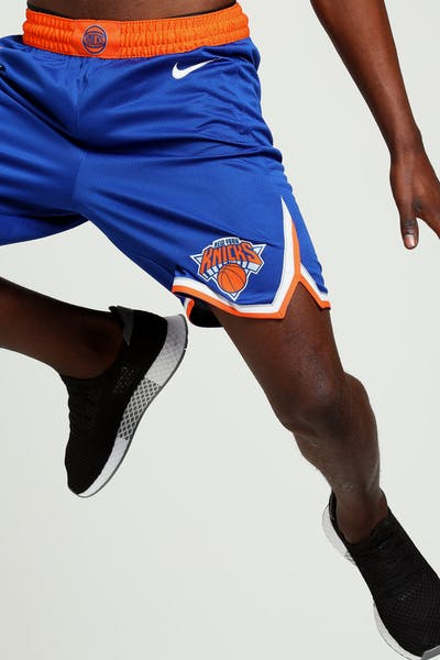 New York Knicks Nike Icon Edition Swingman Shorts Blue Orange White d4ebfa88f