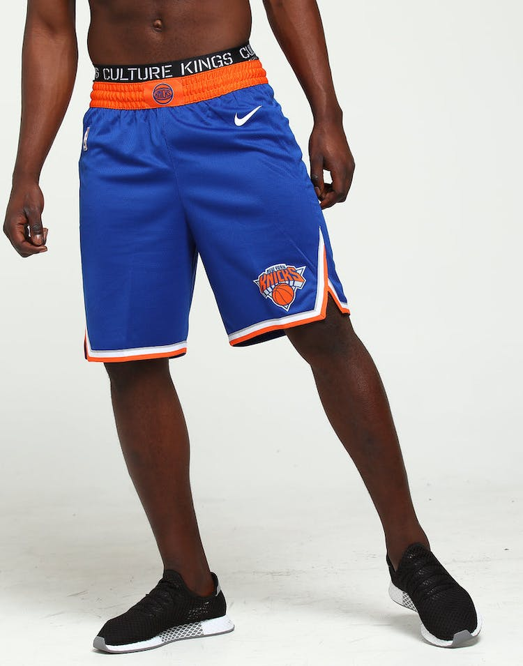 huge selection of aaa76 094ad New York Knicks Nike Icon Edition Swingman Shorts Blue/Orange/White