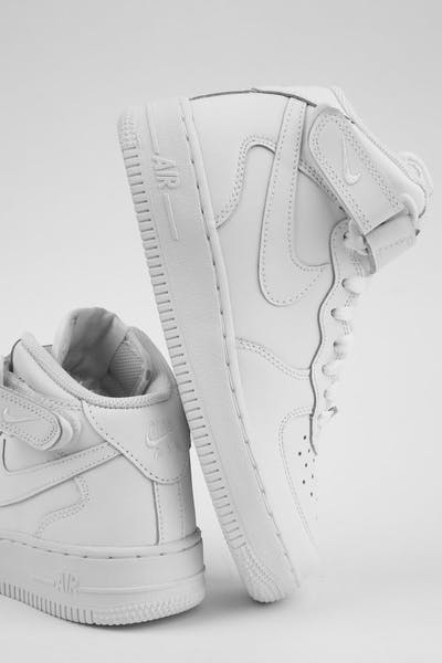 2ac69a6241db Nike Boys Air Force 1 Mid (GS) Bball White White