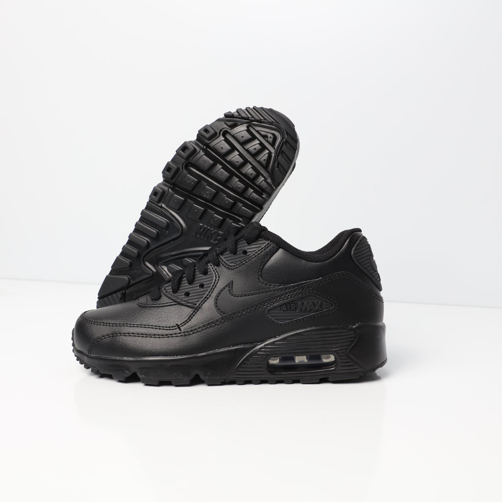 Nike Air Max 90 Leather Older Kids' Shoe BlackBlack