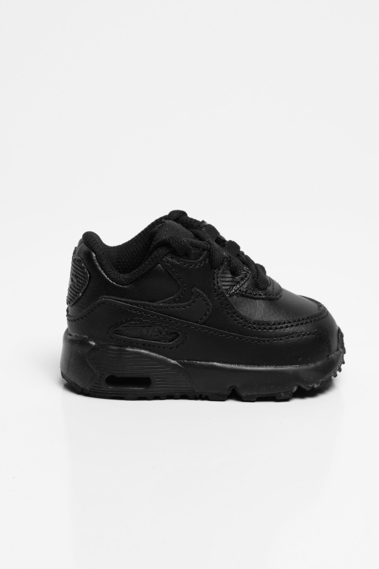 Nike Air Max 90 Leather Toddler Shoe BlackBlack