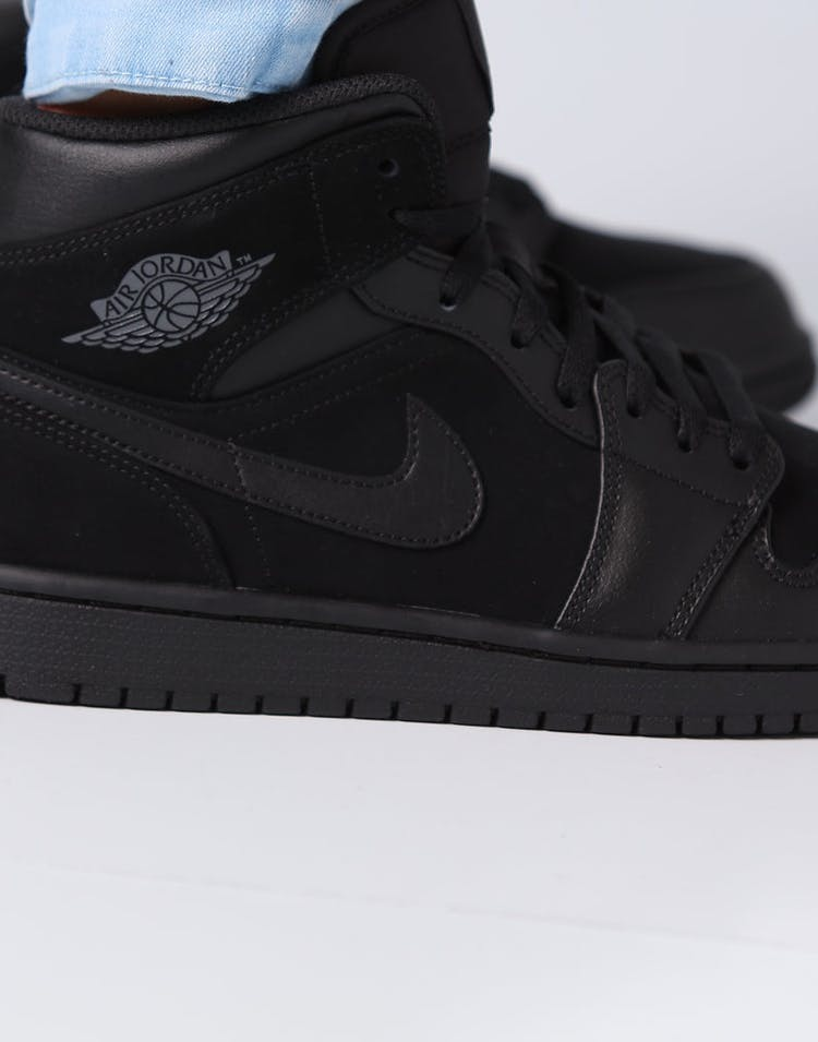 new styles 2037a 75dc4 Air Jordan 1 Mid Black Dark Grey Black