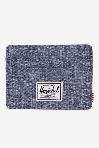 Herschel Supply Co Charlie RFID Crosshatch Dark Chambray