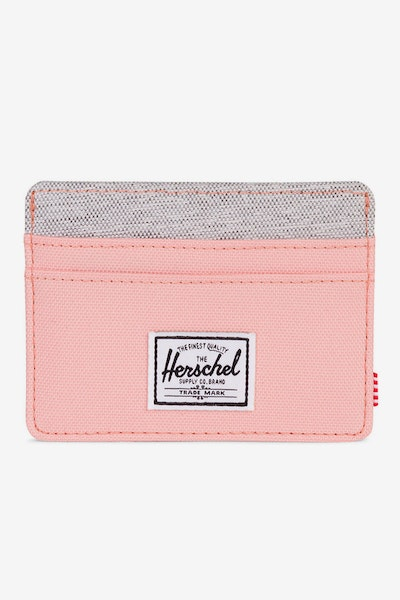 Herschel Supply Co Charlie RFID Crosshatch Peach/Light Grey