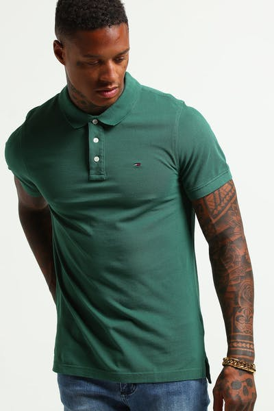 Tommy Jeans TJM Essential Polo S/S Dark Green