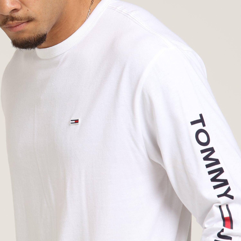 Tommy Jeans TJM Longsleeve Us Flag Tee Top de Sport Homme