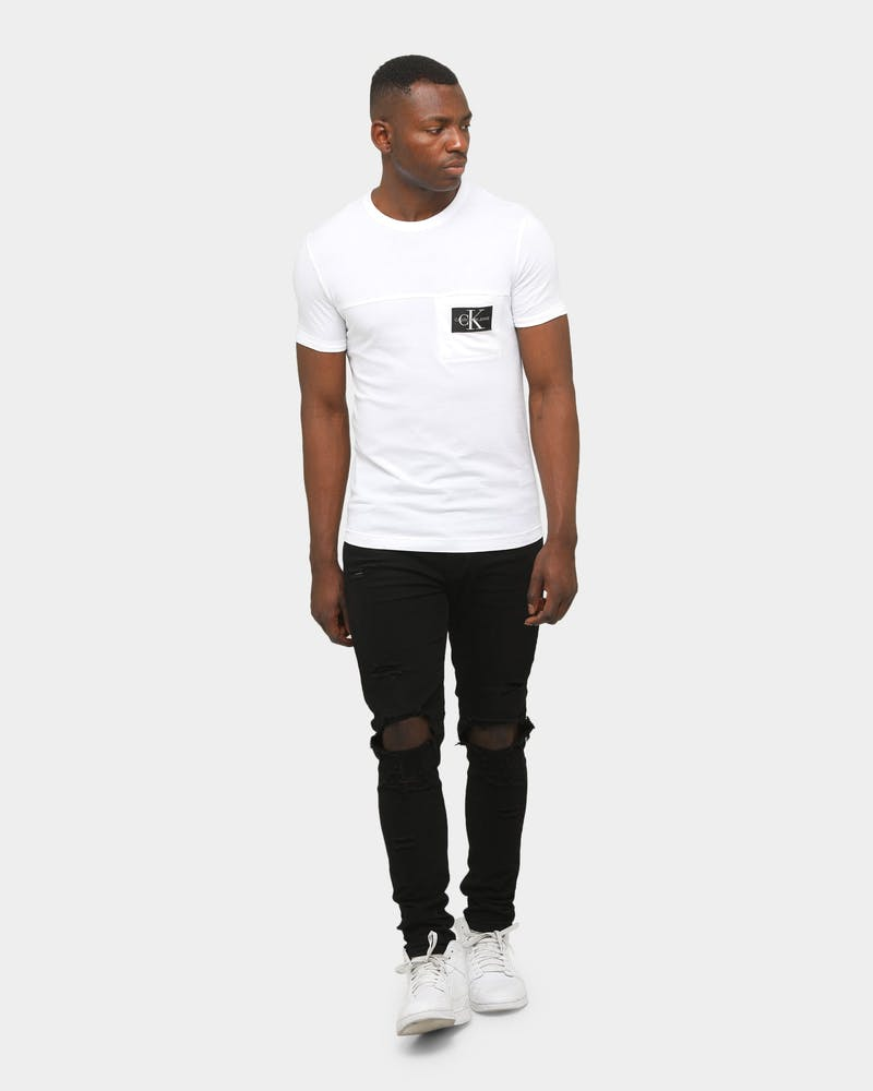 Calvin Klein Monogram Badge Pocket T-Shirt Bright White