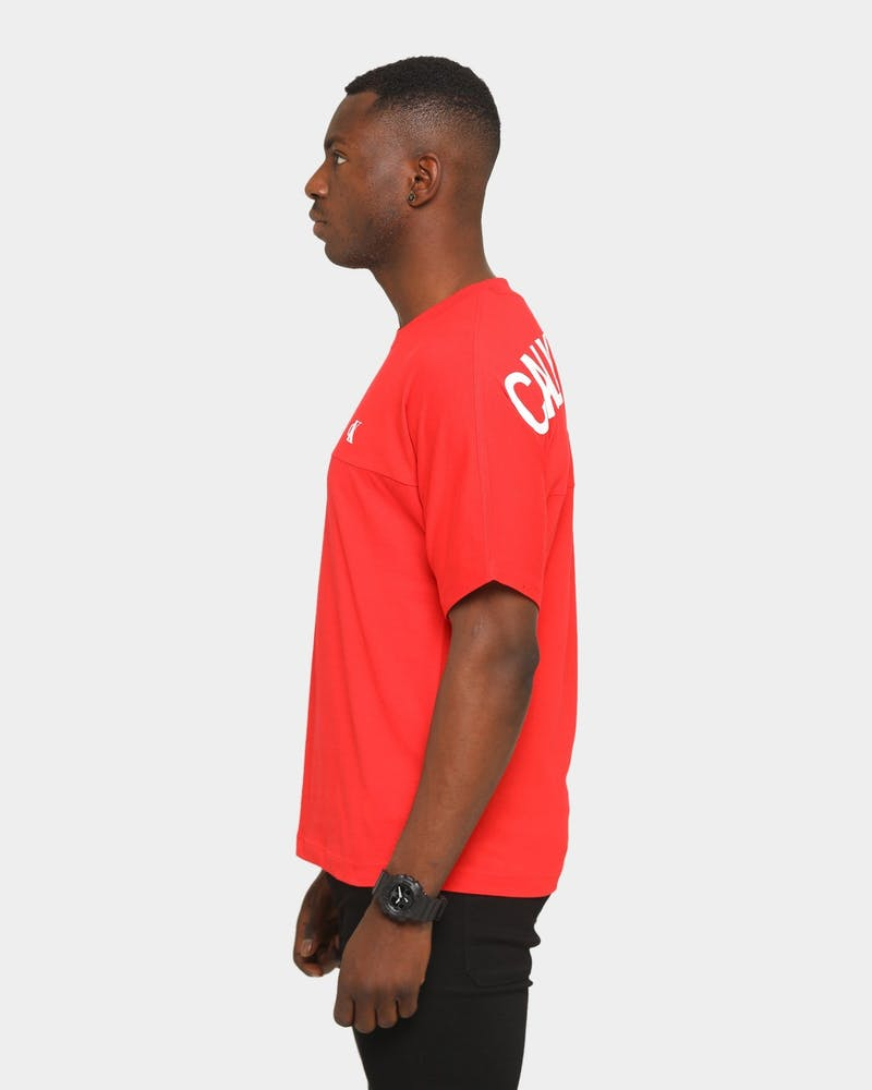 Calvin Klein Puff Print Back Logo T-Shirt Red