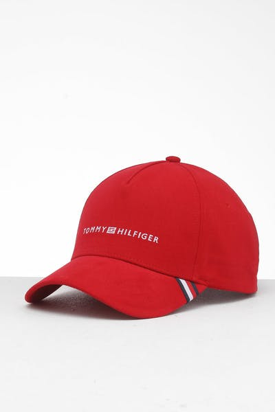 Tommy Jeans Uptown Strapback Cap Haute Red