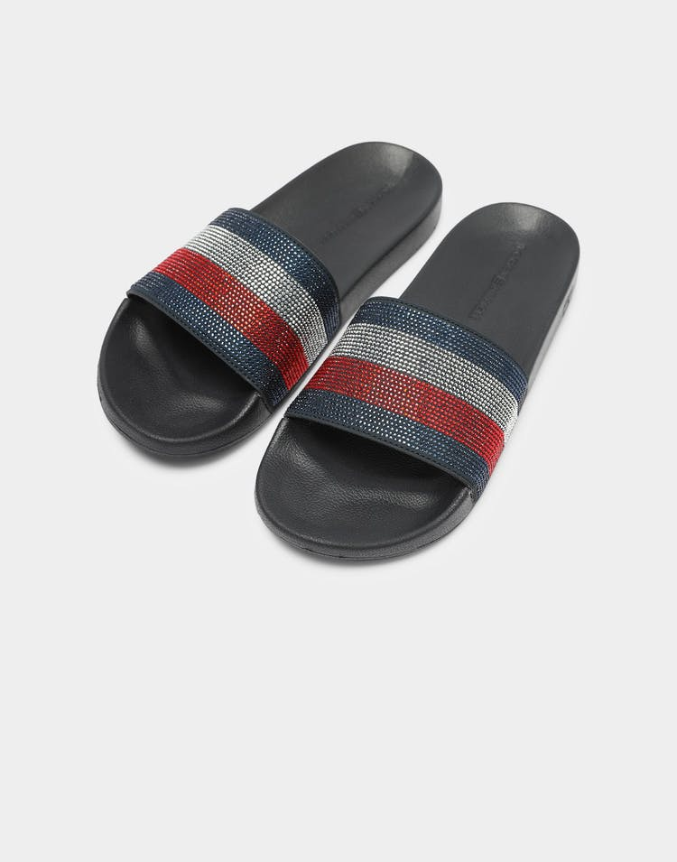 Tommy Jeans Women's Tommy Pool Slide Navy/Red/White