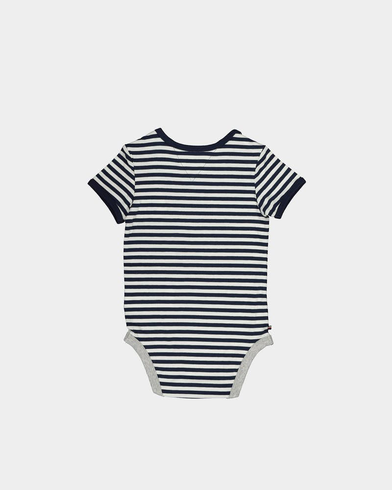 Tommy Jeans Kids Baby Striped Body SS Black Iris/Bright White
