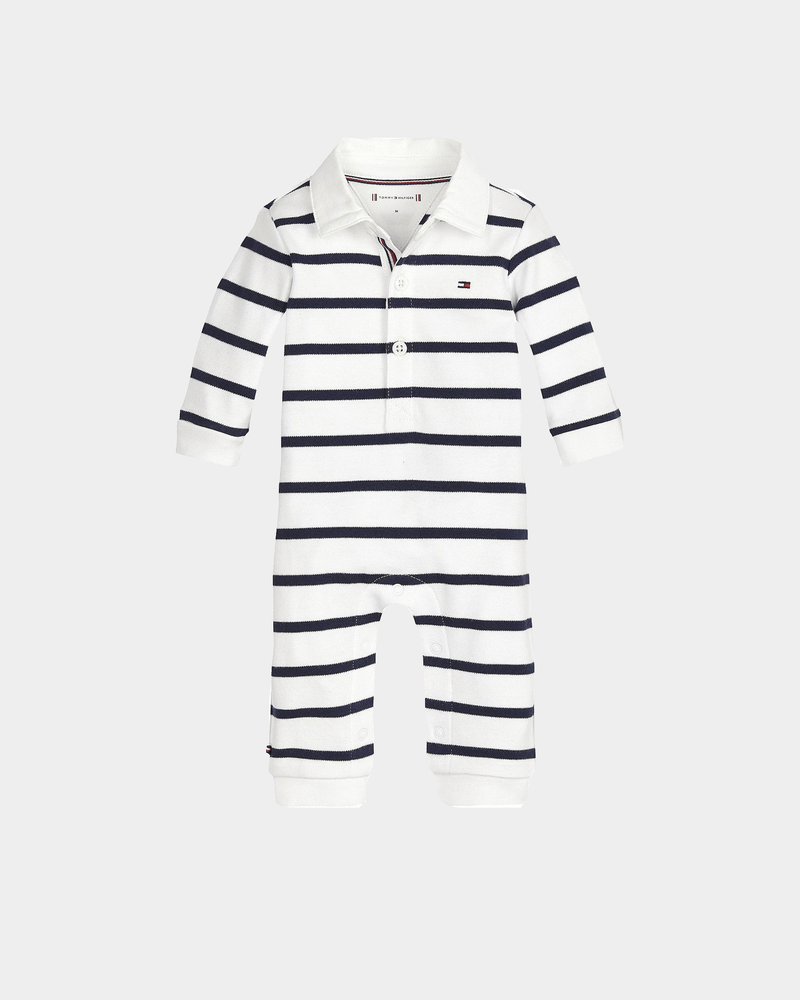 Tommy Jeans Kids Baby Rugby Stripe CA LS Black Iris/Bright White
