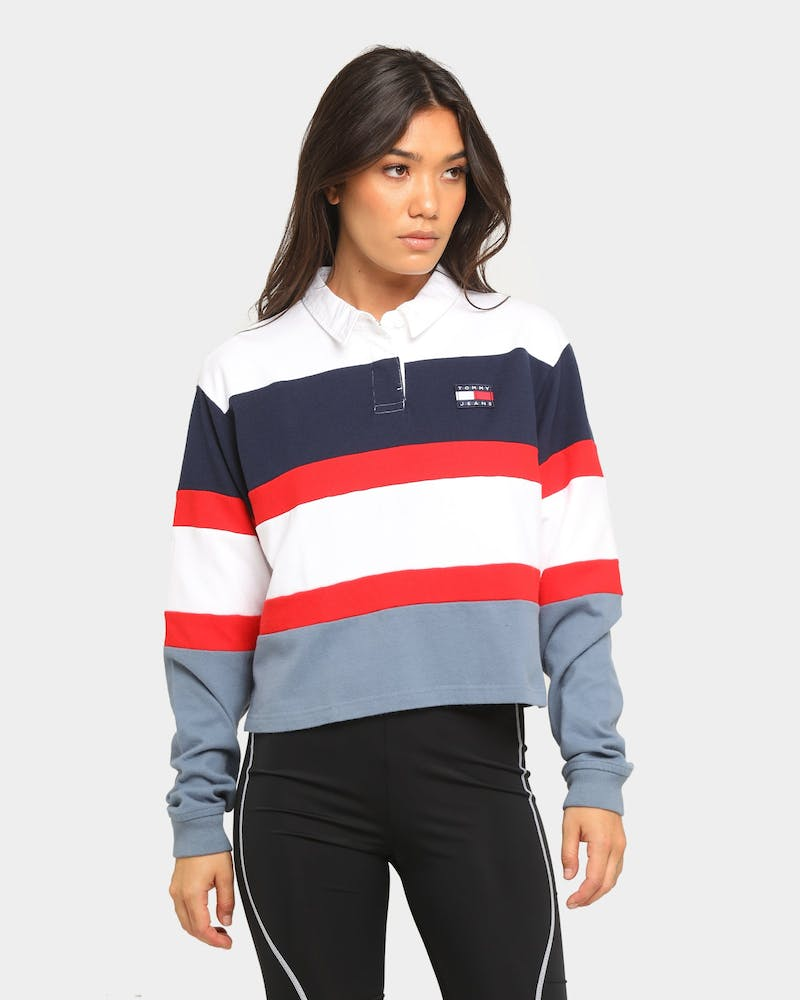 Tommy Jeans Women's TJW Badge Rugby Shirt Faded Ink