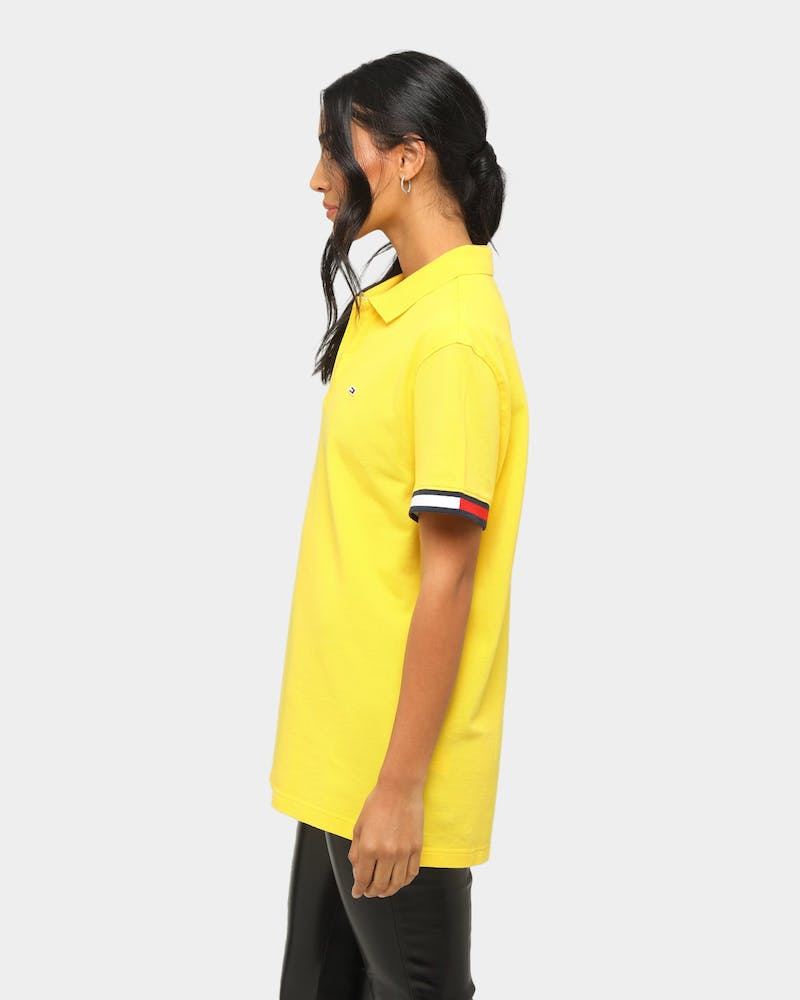 Tommy Jeans TJM Branded Sleeve Polo Star Fruit Yellow