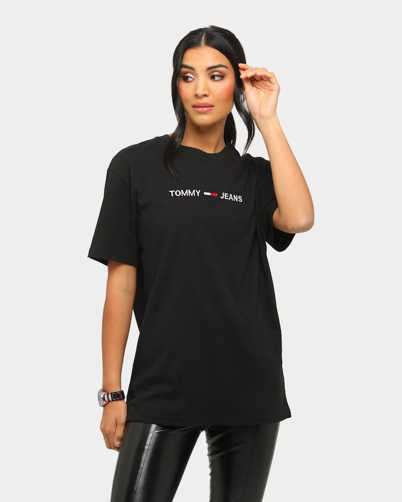 Tommy Jeans TJM Straight Logo T-Shirt Black