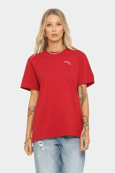 Tommy Jeans Chest Corp T-Shirt Wine Red