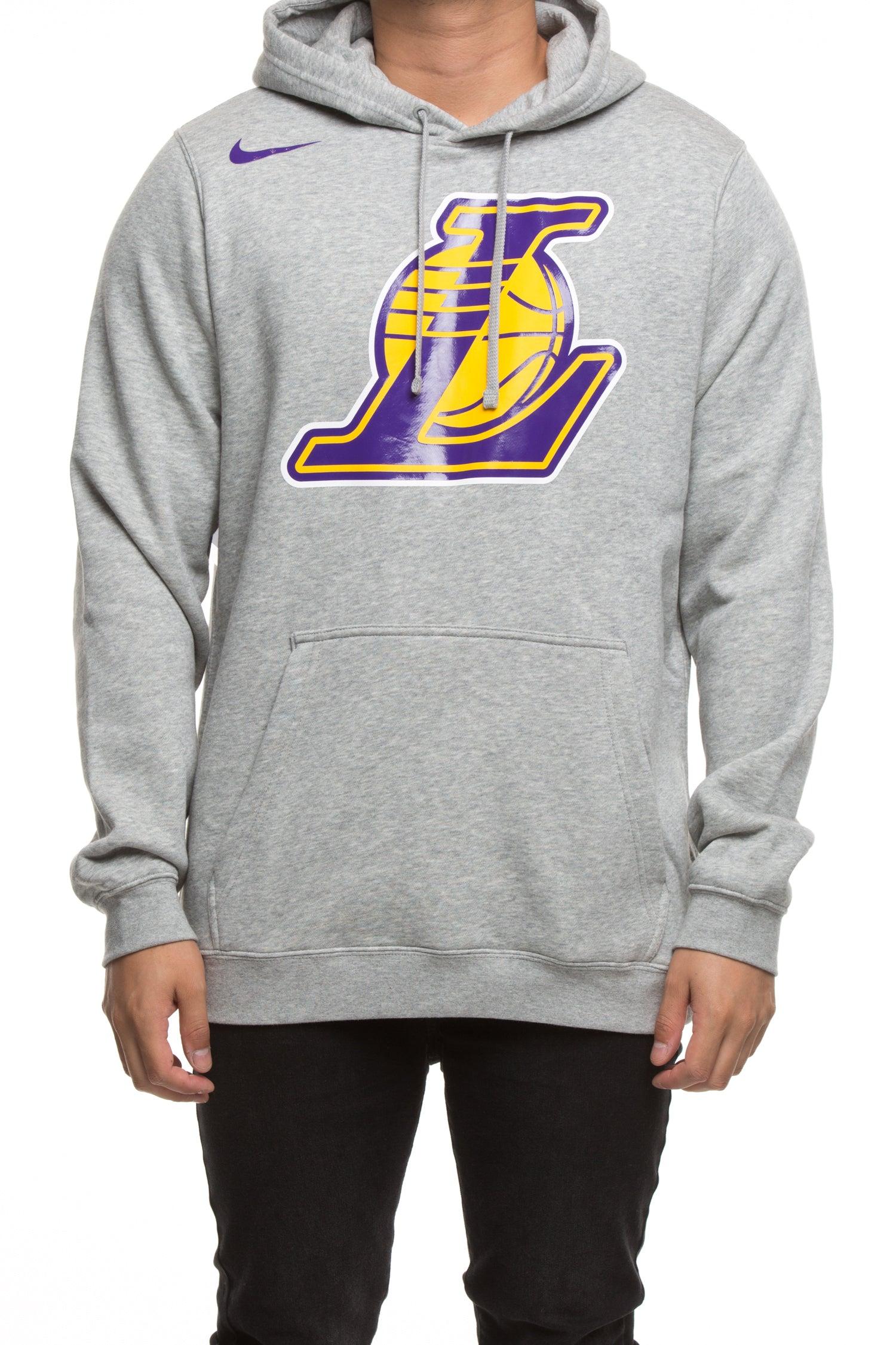 Los Angeles Lakers Nike Fleece Hoodie Grey Heather