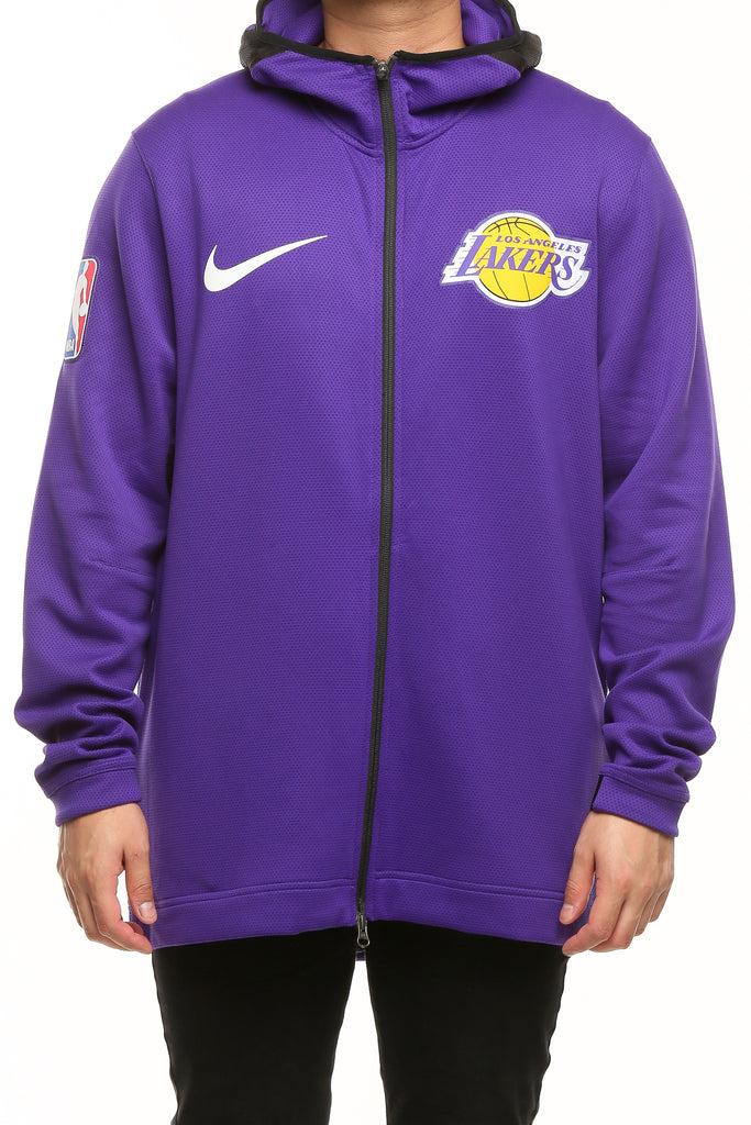 Los Angeles Lakers Nike Therma Flex Showtime Hood PurpleBlackWhite