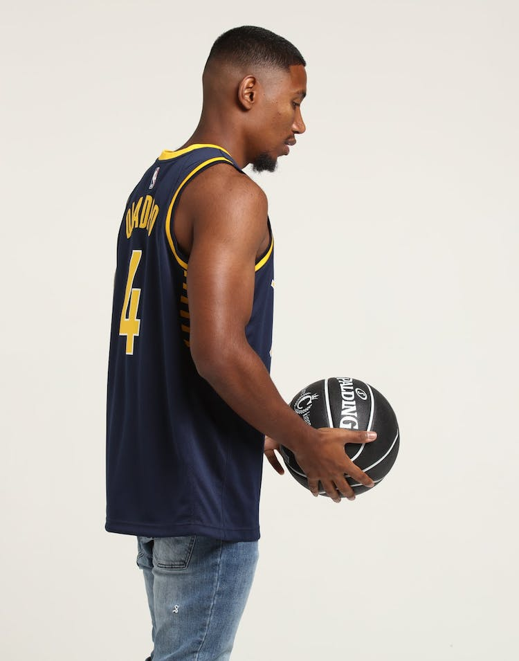 NIKE Indiana Pacers Victor Oladipo #4 ICON EDITION NBA JERSEY Navy/Yellow