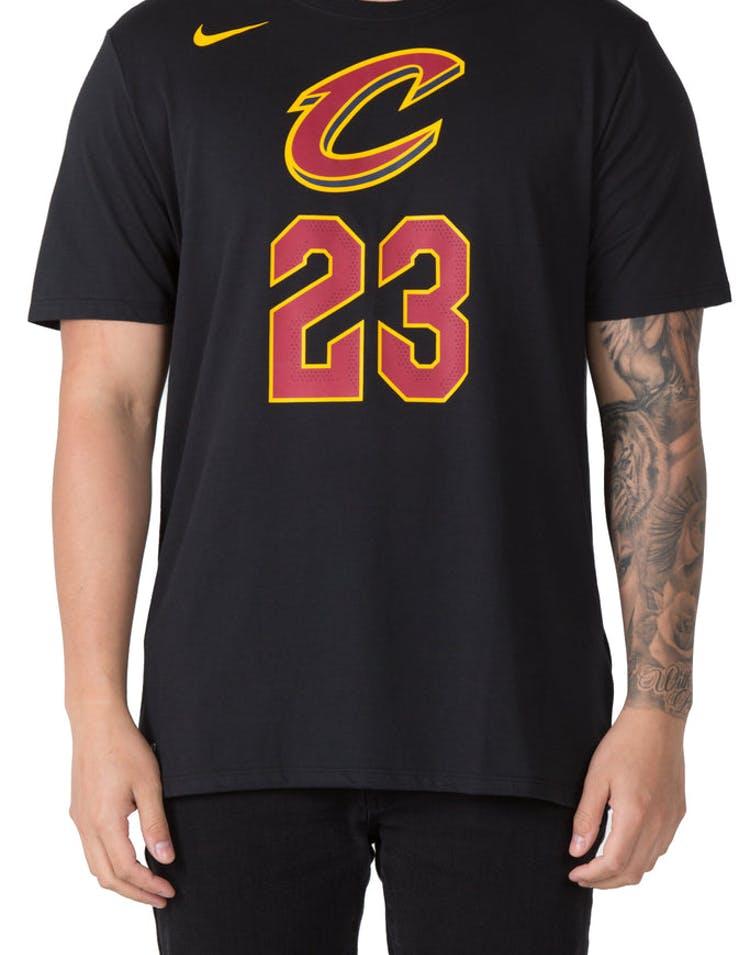 6ff72e6af4b9 LeBron James Cleveland Cavaliers Nike Dry Tee Black – Culture Kings US