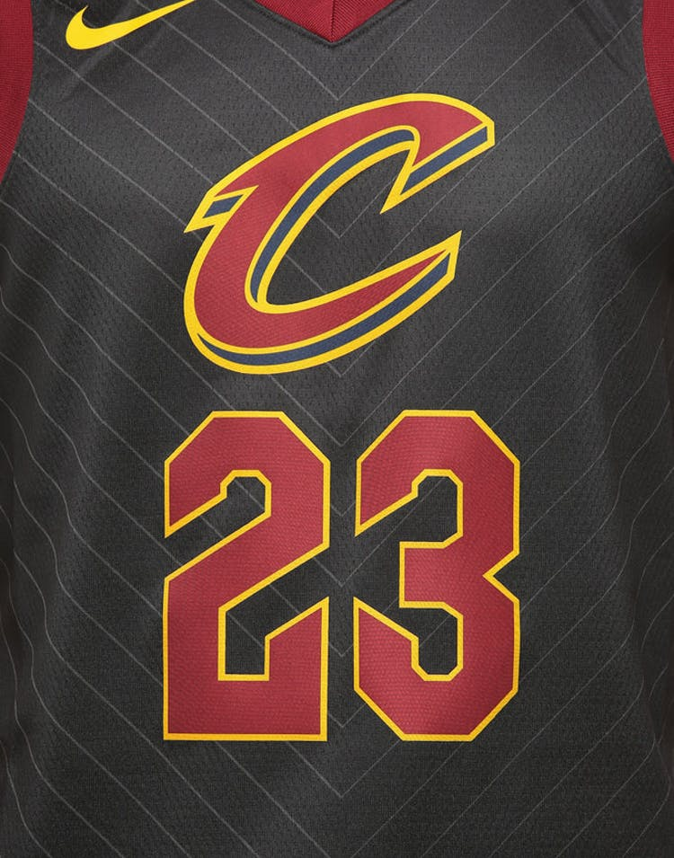 premium selection bf5c7 12de4 Nike Cleveland Cavaliers #23 LeBron James Alternate Swingman Jersey  Black/Red/Gold