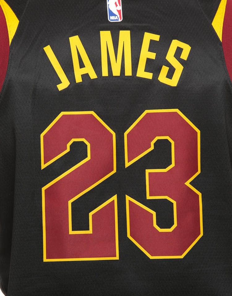 premium selection 7e7fe 36e9a Nike Cleveland Cavaliers #23 LeBron James Alternate Swingman Jersey  Black/Red/Gold