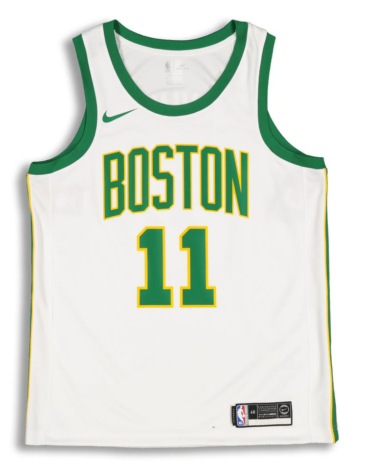 online store a0d54 81941 Nike Boston Celtics Kyrie Irving #11 City Edition Swingman NBA Jersey White
