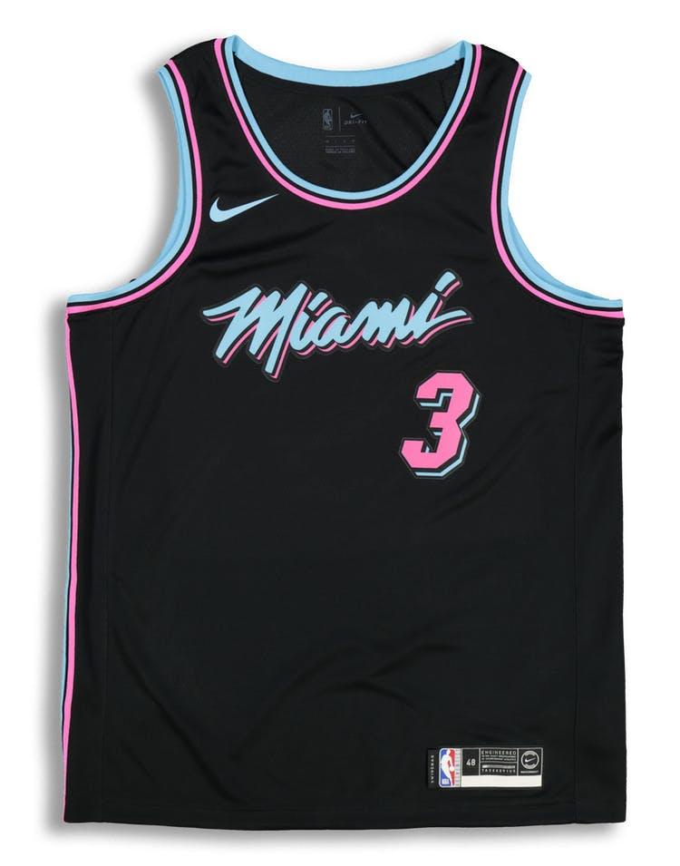 edb7d0c1019 Nike Miami Heat Dwayne Wade #3 City Edition Swingman NBA Jersey Black