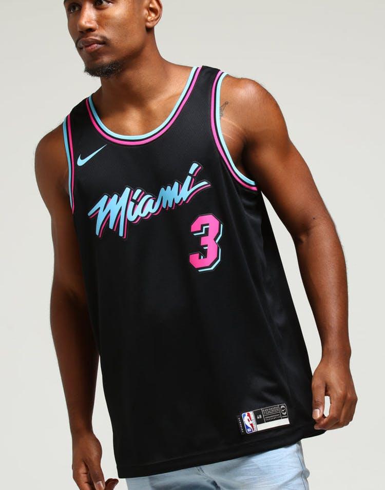 c962a5b81 Nike Miami Heat Dwayne Wade #3 City Edition Swingman NBA Jersey Black