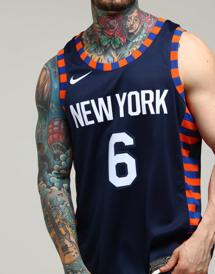separation shoes 06638 3ca5c Nike New York Knicks Kristaps Porziņģis #6 City Edition Swingman NBA Jersey  Navy