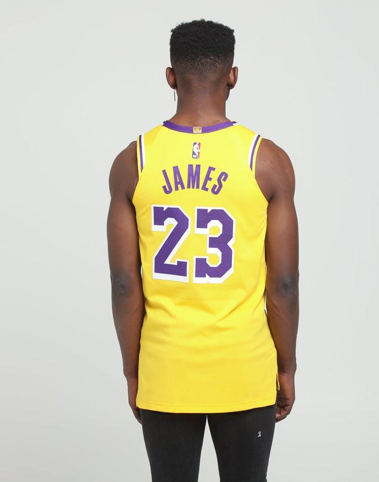 sports shoes be698 5bdf0 Nike Los Angeles Lakers LeBron James #23 Icon Edition Swingman Jersey  Amarillo
