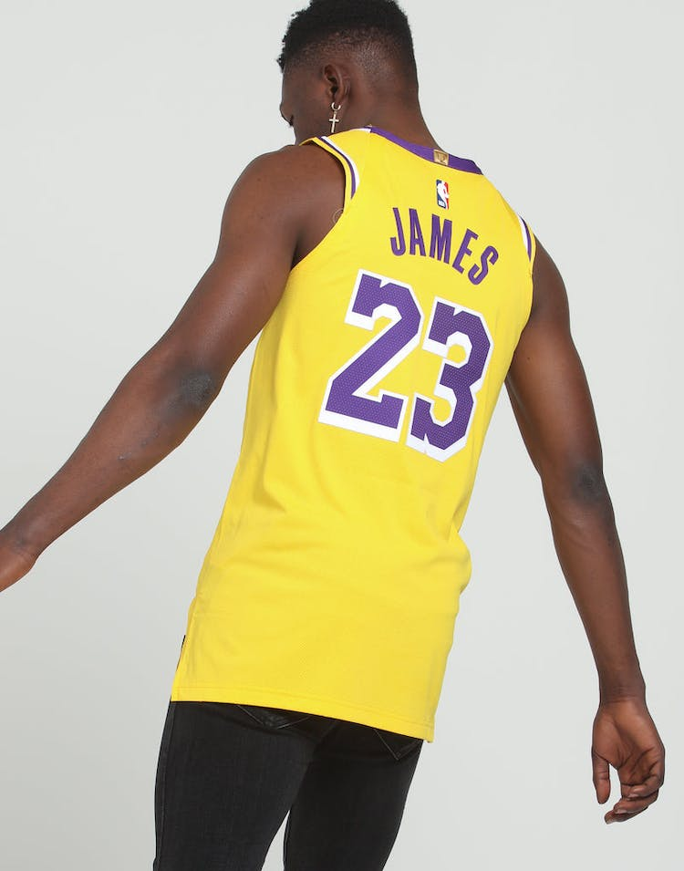 sports shoes 3d17a 8424a Nike Los Angeles Lakers LeBron James #23 Icon Edition Swingman Jersey  Amarillo