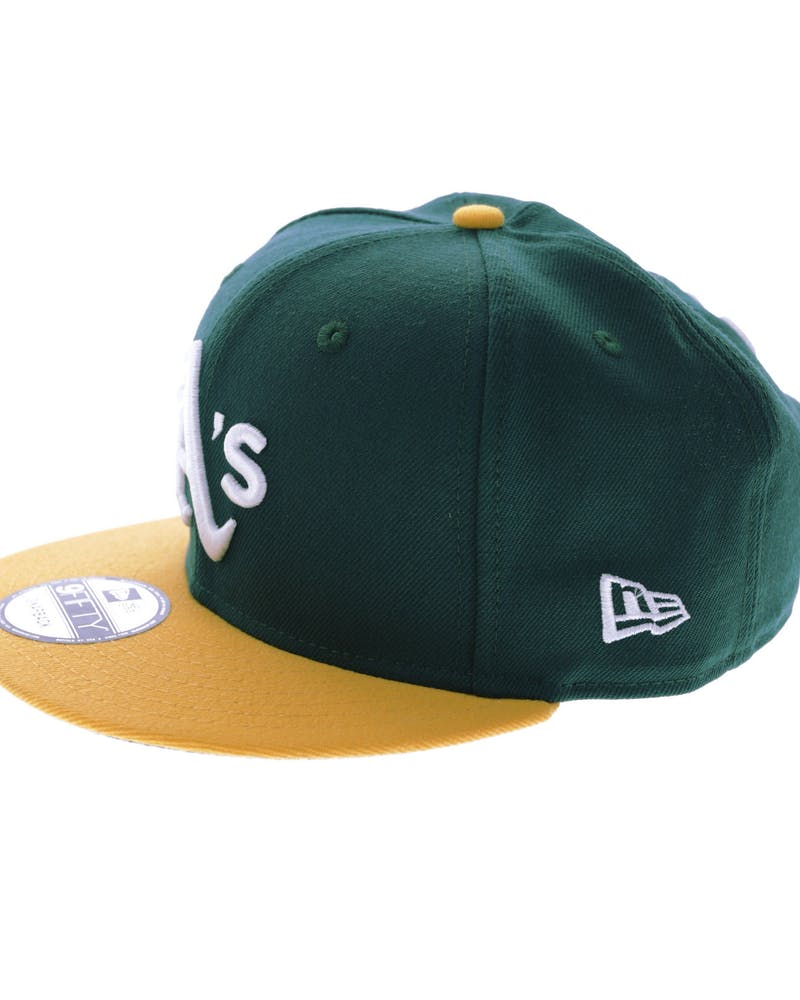 New Era Athletics Logo Snapback Green/Gold